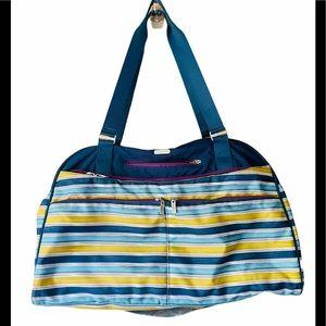 Baggallini Striped Fifth Avenue Weekender Bag